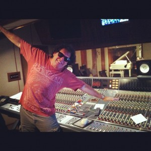 """Doing an imitation of """"Flying Faders"""""""